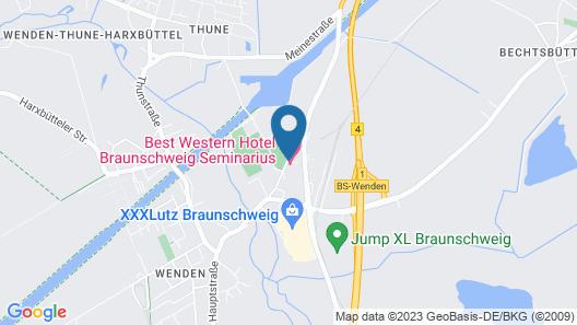 Best Western Hotel Braunschweig Seminarius Map