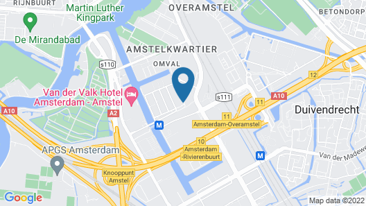Postillion Hotel Amsterdam Map