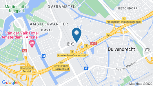 Bastion Hotel Amsterdam Amstel Map