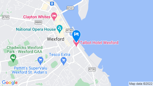 Talbot Hotel Wexford Map
