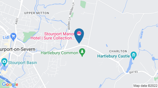Stourport Manor Hotel, Sure Hotel Collection by Best Western Map