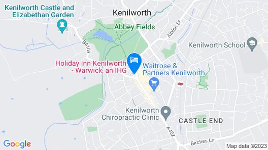 Holiday Inn Kenilworth - Warwick Map