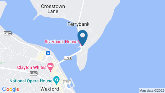 Riverbank House Hotel Map