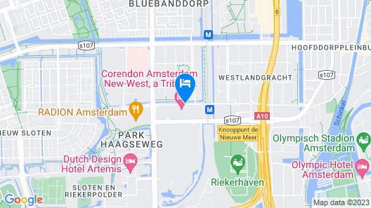 Corendon City Hotel Amsterdam Map