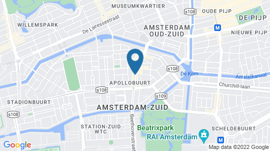 Hotel Beethoven Amsterdam Map