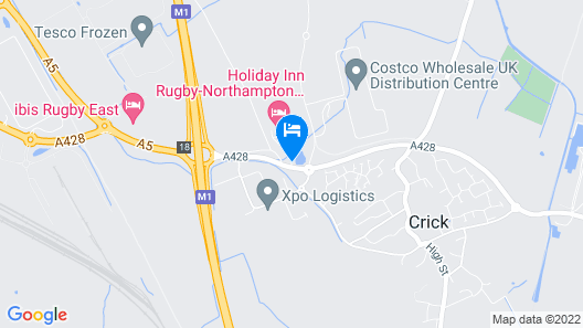 Holiday Inn Rugby/ Northampton M1, Jct 18 Map