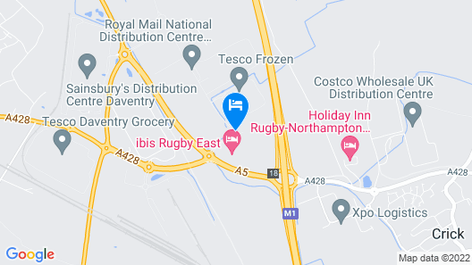ibis Rugby East Map