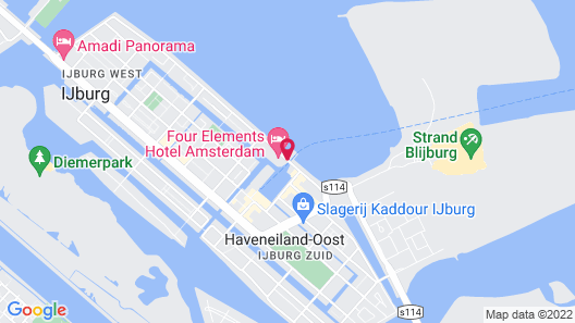 Four Elements Hotel Amsterdam Map