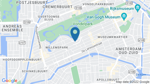 Park Plaza Vondelpark Map
