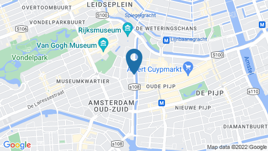 NH Amsterdam Museum Quarter Map