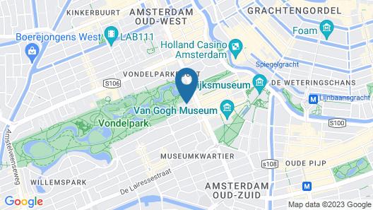 Hotel City Garden Amsterdam Map