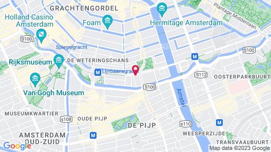 Hotel V Frederiksplein Map