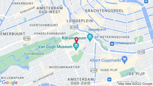 Jan Luyken Hotel Amsterdam Map
