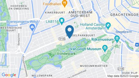 Pillows Luxury Boutique Hotel Anna Van Den Vondel Amsterdam Map