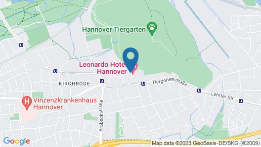 Leonardo Hotel Hannover Map