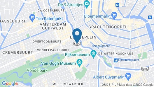 Amsterdam Marriott Hotel Map