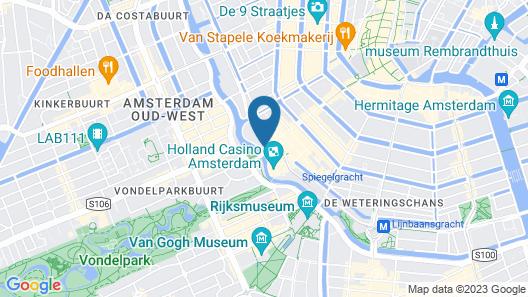 American Hotel Amsterdam Map