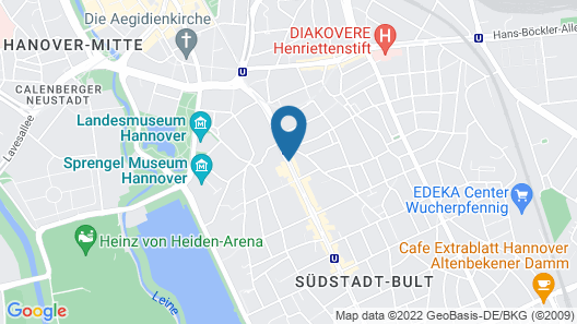 DORMERO Hotel Hannover Map