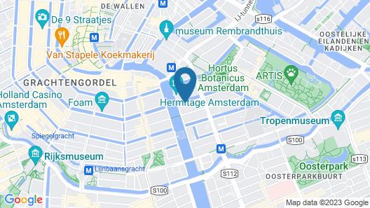 Hotel Hermitage Amsterdam Map
