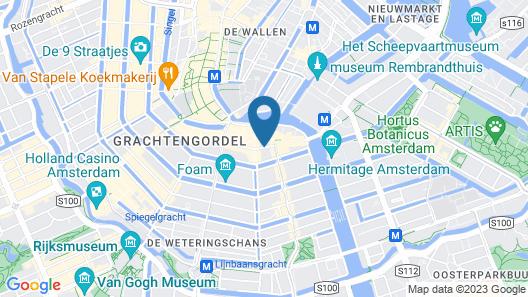 NH Amsterdam Schiller Map
