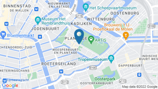 The Lancaster Hotel Amsterdam Map