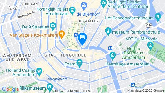De L'Europe Amsterdam Map