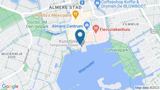 Apollo Hotel Almere City Centre Map