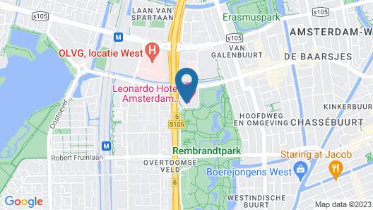 Leonardo Hotel Amsterdam Rembrandtpark Map