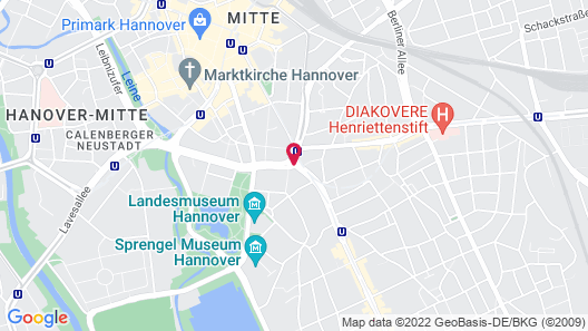me and all hotel hannover Map