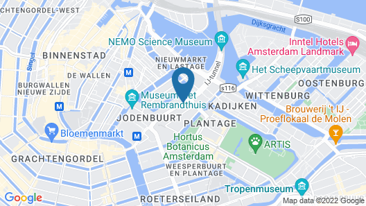 Monet Garden Hotel Amsterdam Map