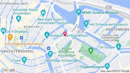 Monet Garden Hotel Amsterdam Map