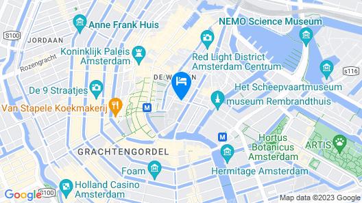 Radisson Blu Hotel, Amsterdam City Center Map