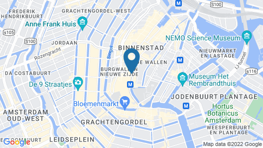 Ozo Hotels Cordial Amsterdam Map