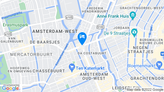 Alp Hotel Amsterdam Map