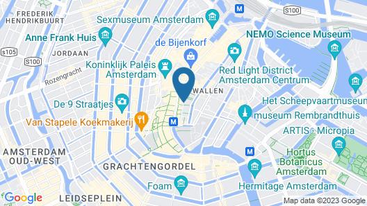 Hotel V Nesplein Map