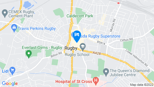 The Rugby Hotel Map