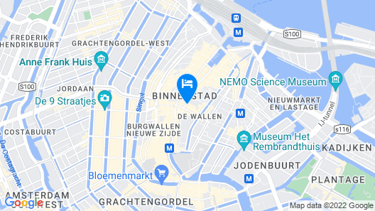 NH Collection Amsterdam Grand Hotel Krasnapolsky Map