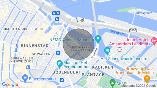 Houseboat Apartment Amsterdam Center Map