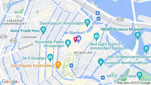 Hotel Amsterdam - De Roode Leeuw Map