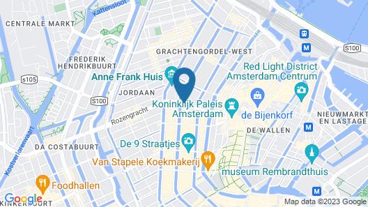 Nadia Hotel Amsterdam Map