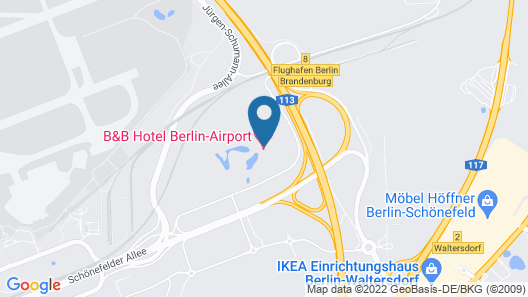 B&B Hotel Berlin-Airport Map