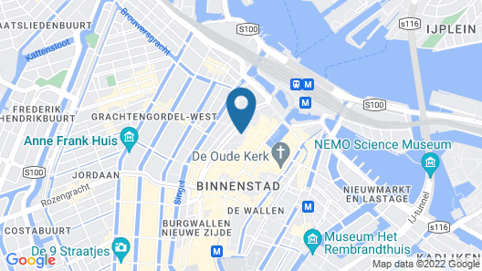 Inntel Hotels Amsterdam Centre Map
