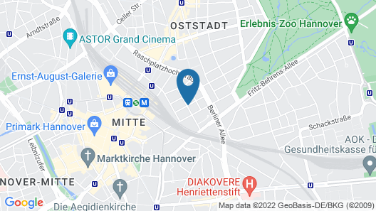 Crowne Plaza Hannover Map