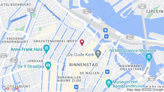 WestCord City Centre Hotel Amsterdam Map