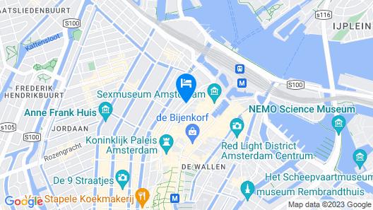 WestCord City Centre Hotel Amsterdam Map