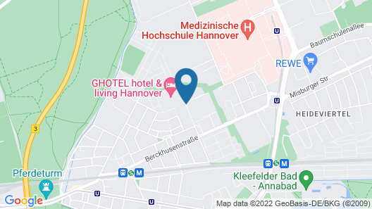 GHOTEL hotel & living Hannover Map