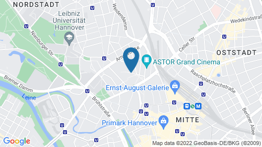 Mercure Hotel Hannover Mitte Map
