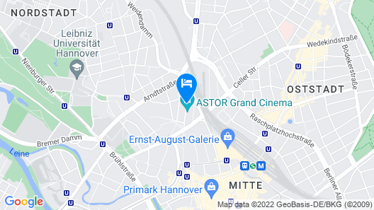 Best Western Hotel Hannover-City Map