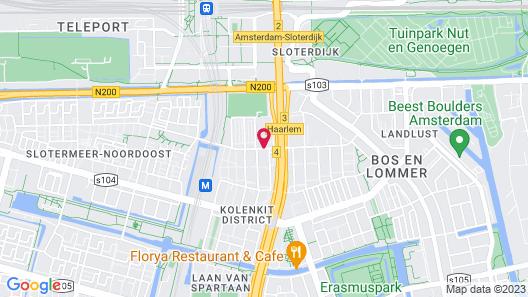 WOW Hostel Amsterdam Map