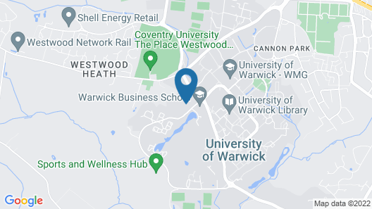 Radcliffe - Warwick Conferences Map
